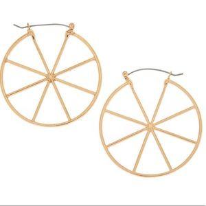 Gold 50MM Wheel Hoop Earrings